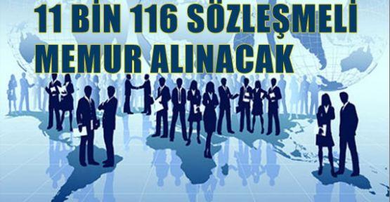 11 bin 116 Bin Sözleşmeli Memur Alınacak