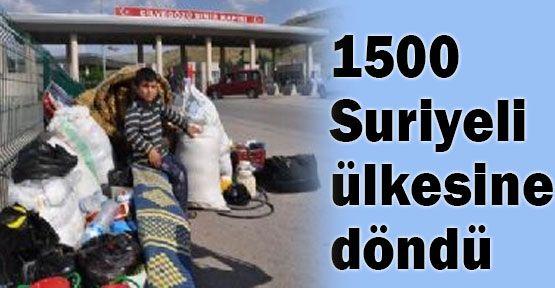 1500 Suriyeli dönüş yaptı