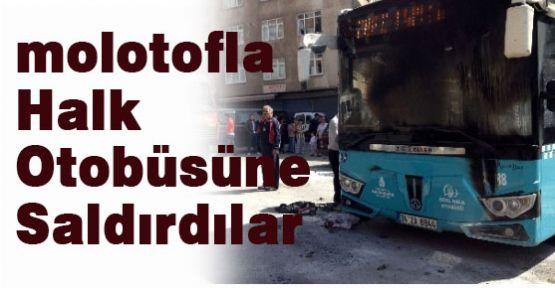 15 Kişilik Grup Halk Otobüsüne Saldırdı