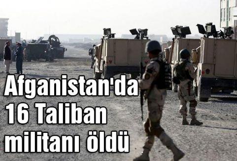 16 Taliban militanı öldürüldü