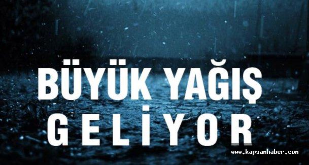 Büyük Yağış Geliyor...