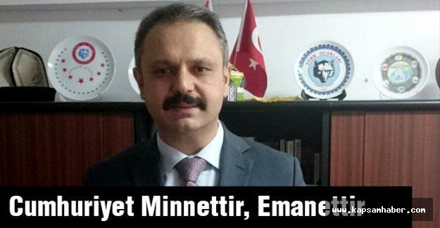 Cumhuriyet Minnettir, Emanettir
