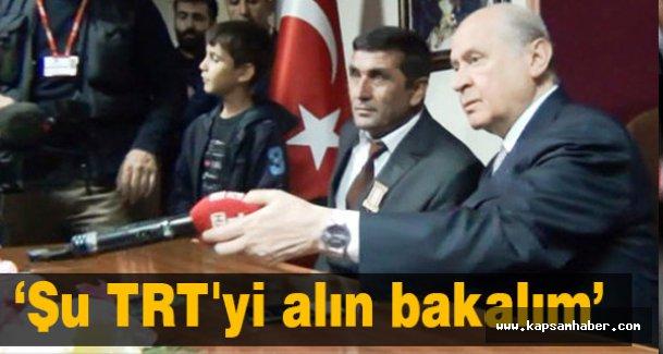Devlet Bahçeli'den Tepki: Şu TRT'yi alın bakalım