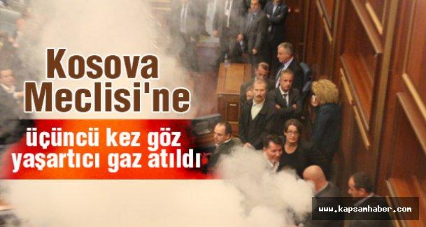Kosova Meclisinde çılgın eylem