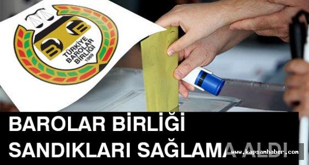 Türkiye Barolar Birliği Sandıkları Sağlama Aldı