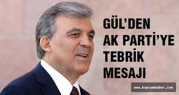 Abdullah Gül'den tebrik mesajı