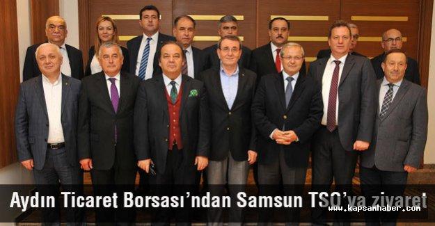 Aydın Ticaret Borsası'ndan Samsun TSO'ya Ziyaret