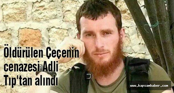 Başakşehir'de öldürülen Çeçenin cenazesi alındı