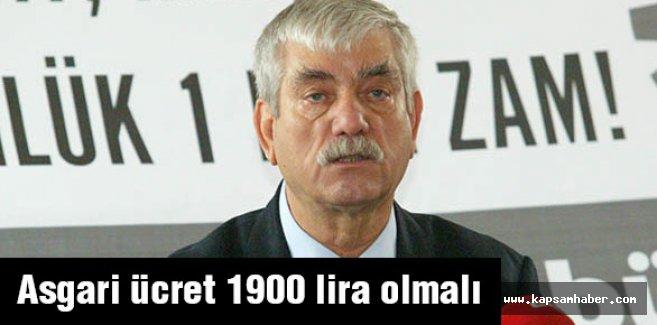 Beko: Asgari ücret bin 900 TL olmalı