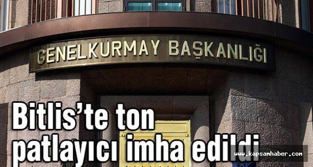 Bitlis'te bir ton patlayıcı imha edildi