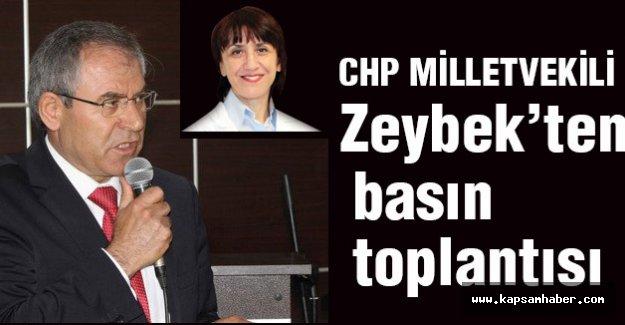 CHP'li Zeybek'ten Basın Toplantısı