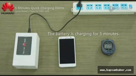 Çinli Huawei, 5 dakikada yarısı dolan telefon pili üretti