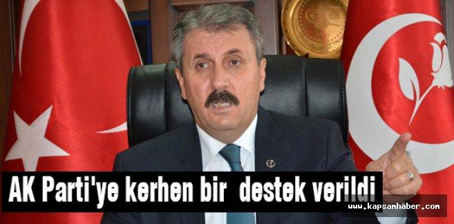 Destici: AK Parti'ye kerhen bir destek verildi