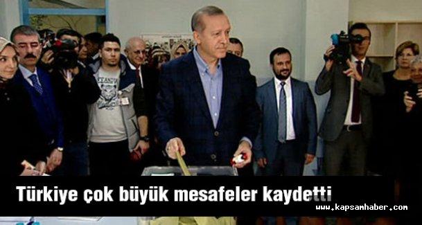 Erdoğan: Türkiye çok büyük mesafeler kaydetti