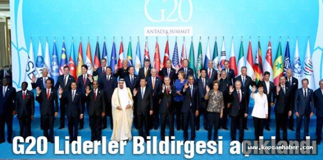 G20 Zirvesi'nin ardından Liderler Bildirgesi açıklandı