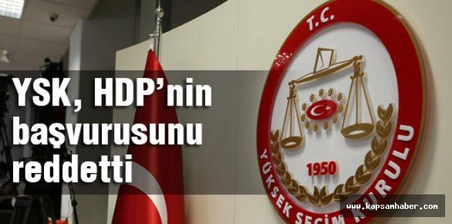 HDP'nin başvurusunu Reddedildi