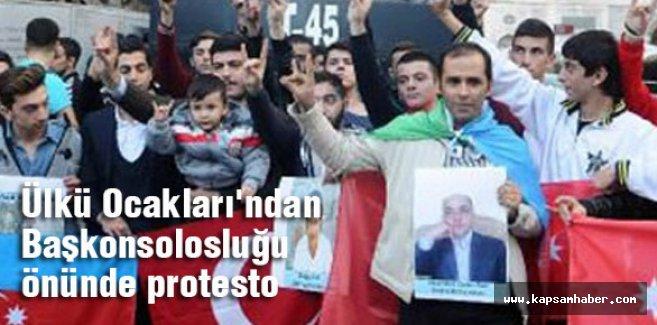 İstanbul Ülkü Ocakları İran'ı Protesto Etti