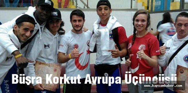 Milli Sporcusu Büşra Korkut Avrupa Üçüncüsü
