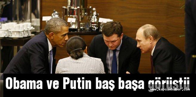 Obama ve Putin baş başa görüştü