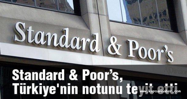 Standard & Poor's, Türkiye'nin notunu teyit etti, görünümü negatifte bıraktı