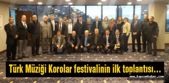 Türk Müziği Korolar festivalinin ilk toplantısı...