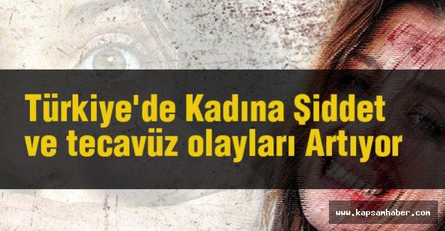 Türkiye'de Kadına Şiddet ve tecavüz Artıyor