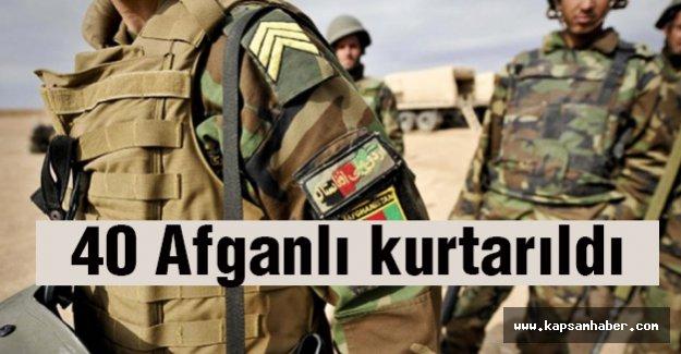 40 Afganlı Operasyonda kurtarıldı