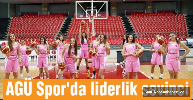 AGÜ Spor'da liderlik sevinci