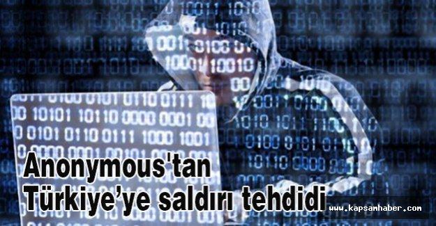 Anonymous'tan Türkiye'ye saldırı tehdidi