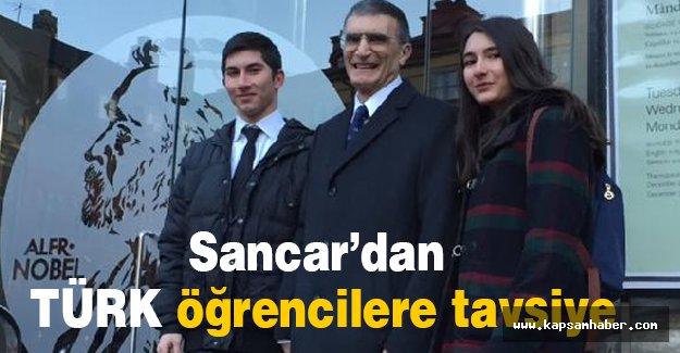 Aziz Sancar, Türk öğrencilerle tavsiyelerde bulundu
