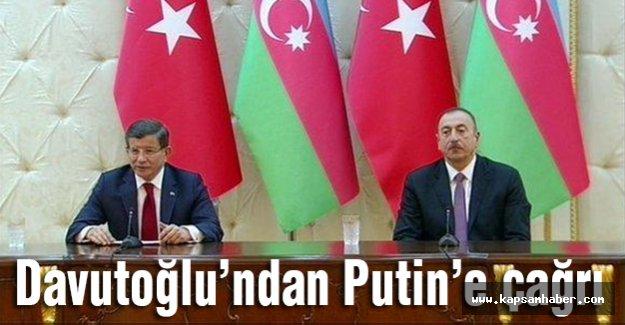 Başbakan Davutoğlu Putin'e Çağrıda Bulundu