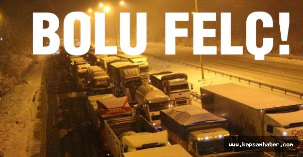 Bolu Dağı'nda Kar Trafiği Felç Etti