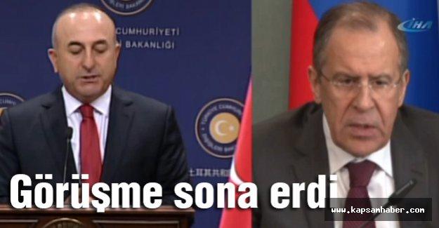 Çavuşoğlu Lavrov görüşmesi sona erdi