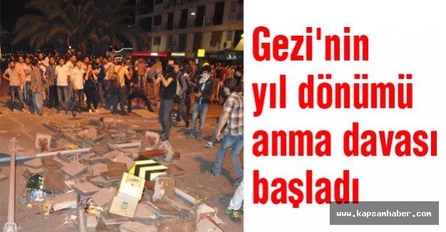 Gezi'nin yıl dönümü anma davası başladı