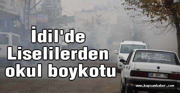 İdil'de Liselilerden okul boykotu