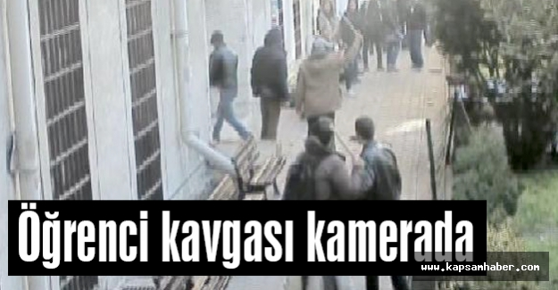 İstanbul Üniversitesi'nde öğrenci kavgası kamerada