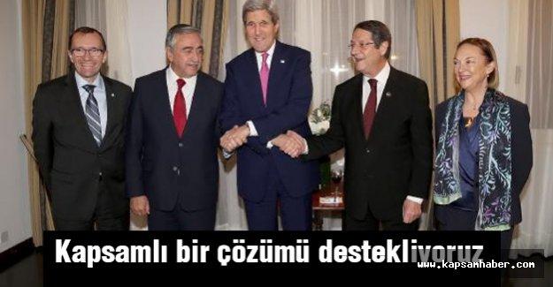 kerry: Kırbıs'ta kapsamlı bir çözümü destekliyoruz