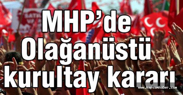 MHP, Olağanüstü kurultaya Hazırlanıyor
