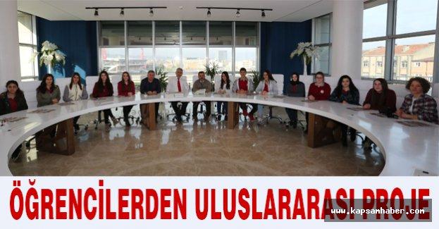 Öğrencilerden uluslararası proje