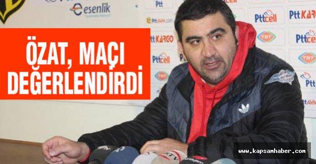 Samsunspor teknik direktörü Özat maçı değerlendirdi