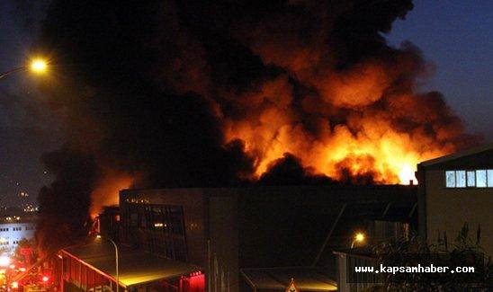 Tekstil fabrikasındaki yangın 7 saattir sürüyor