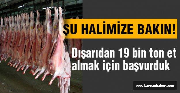 Avrupa Birliği'ne 19 bin ton et için başvurduk