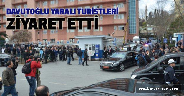 Başbakan Davutoğlu Yaralı Turistleri Ziyaret Etti
