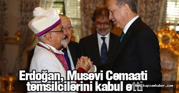 Erdoğan, Türkiye Musevi Cemaati temsilcilerini kabul etti