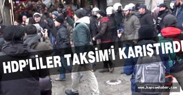 HDP'liler Taksim'i Karıştırdı!