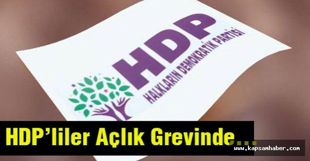 HDP'liler Açlık Grevinde...