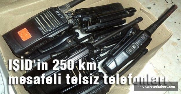 IŞİD'in 250 km mesafeli telsiz telefonları