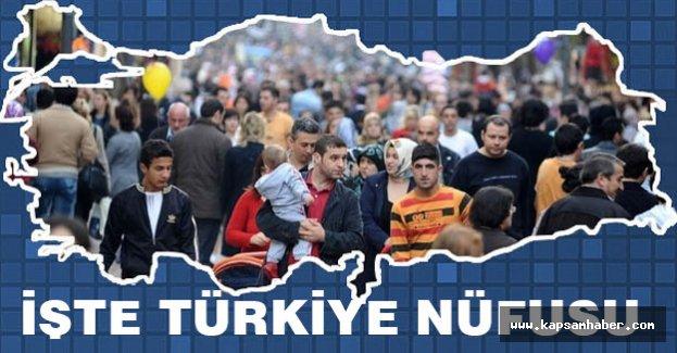 İşte Türkiye Nüfusu...