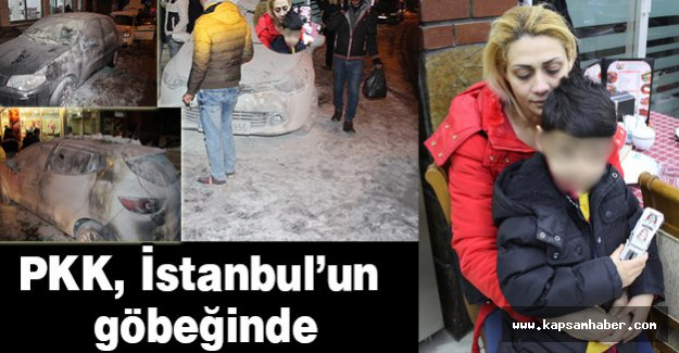 PKK, kadın ve çocuk bulunan aracı ateşe verdi
