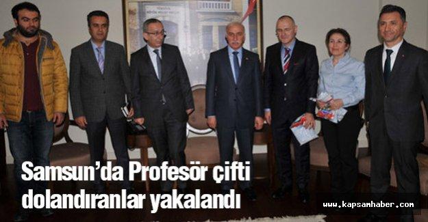 Samsun'da Profesör Çifti Dolandıranlar Yakalandı